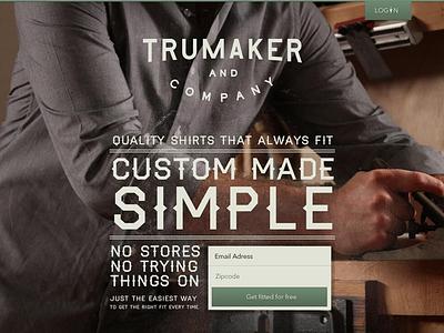 Trumaker lost type haymaker man shirt trumaker landing page
