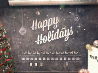 Happy Holidays with Chalk