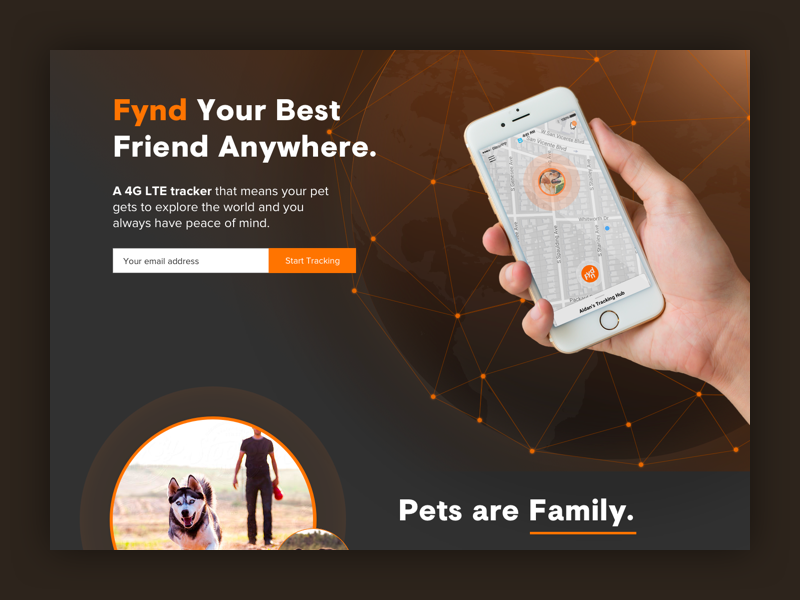 Fynd. A Great Tracking Device pets tracking tracker fynd