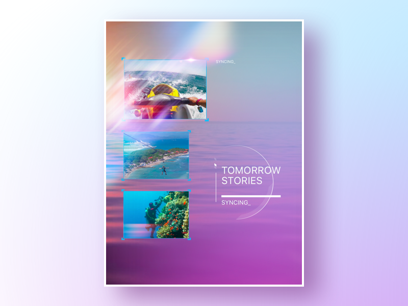 Future is Now stories screen concept