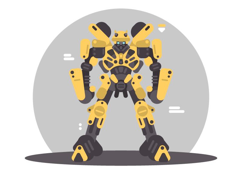 Bumblebee shapes vector illustrator illustration bumblebee transformers