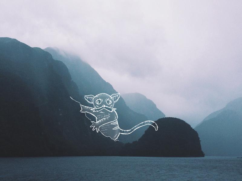 Mountain Critter draw illustration design procreate mountain