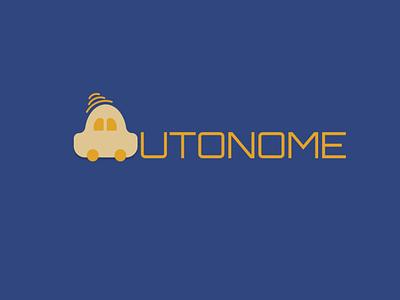 Driverless car illustration vector logo design