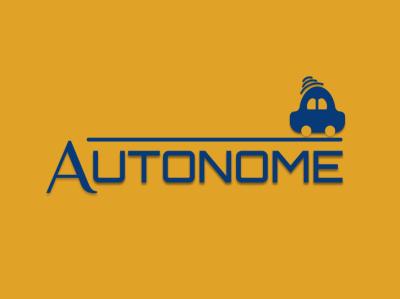 Autonome Driverless Car vector illustration logo design