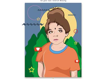 Character illustration ui vector illustration flat design