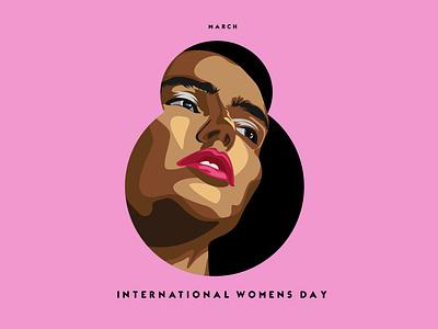 Womens day Poster illustrator graphic design art logo ui vector illustration flat design