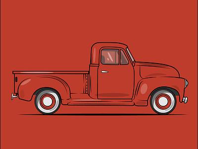 Classic car flat illustration design