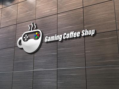Gaming Coffee shop logo logo illustration design