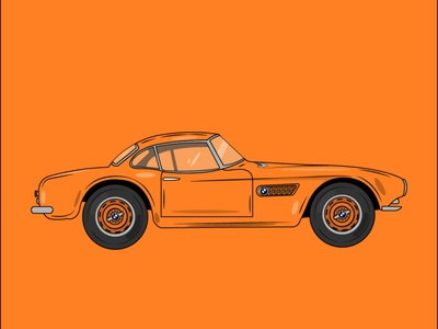 BMW Car flat illustration design