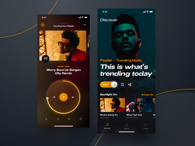 Video Music Player dailyui gallery dashboard video responsive iphone streaming player spotify design music app