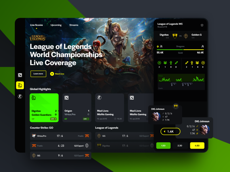 Esports Live Scores ipad design dota csgo league of legends bet stream results schedule live sport scores esports esport game games