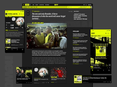 newonce sport blog podcast soccer football sport magazine ui desktop radio sport design music grid list lifestyle design player