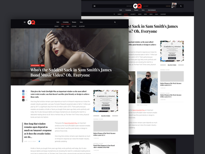 GQ Global: Article page concept typography article web responsive portal men gq fashion style lifestyle magazine design