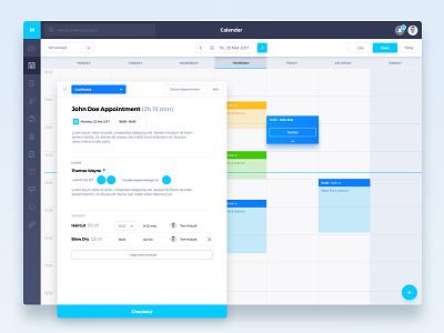 Scheduler checkout wizzard add month week planning hair dresser gym planner calendar schedule