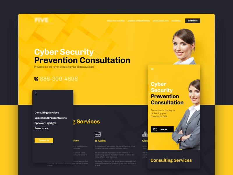 Cyber Security responsive center section parallax call bold landing lp web cyber