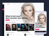 Naked Groove: Online Music Streaming Light Theme