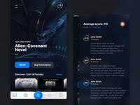 Audiobooks App: Dark Theme