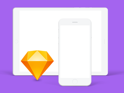 Minimalistic Monochrome iDevices Mockups minimal clean vector sketch ios ipad iphone mockup freebie