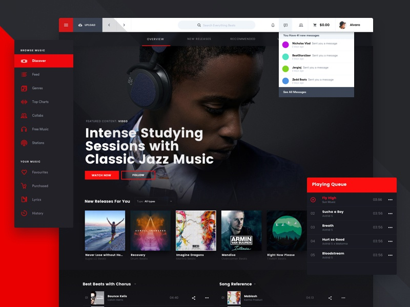 BS Online Music Marketplace Platform by Tom Koszyk for Hologram on