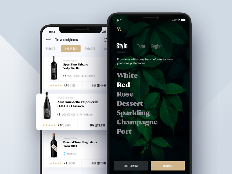 Wine Searcher: Onboarding onboarding travel tuscany collection library news fluid iphone x cards scroll search wine