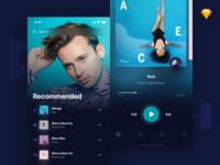 Holo Music UI Kit Freebie