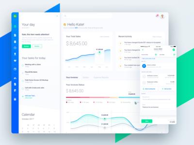 Fiskl Online SME Finance Platform Dashboard