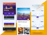Flight Booking App Screens