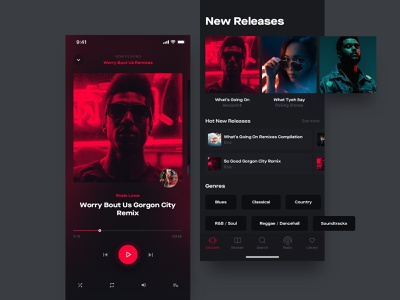 Music Player lifestyle ios ui kit iphone mobile streaming ui design spotify player chart music app
