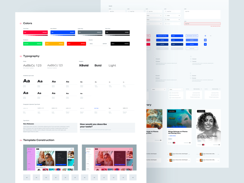 Holo Music Styleguide simple design system ui kit guide style mobile desktop ui design spotify music app