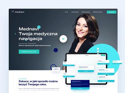 Mednavi LP landingpage medical care app medical lifestyle oncology health care health app healthcare