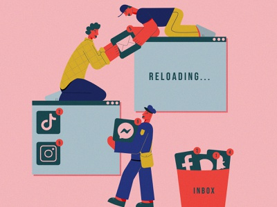 ERROR 404: Page not found reloading inbox illustrator illustration app icons ui design