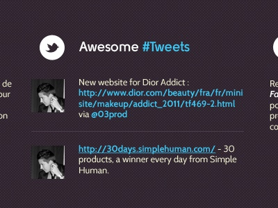 Awesome #Tweets website awesome twitter social icon footer blue