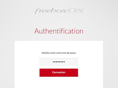 FreeboxOs Login ui free freebox webapp red webdesign app login minimal os