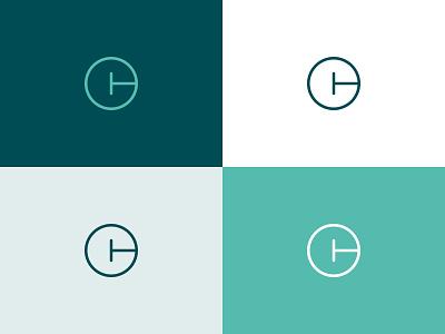 CT Monogram logo monogram letters branding palette green