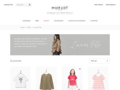 Univers Fille webdesign prestashop kids white clean ecommerce shop