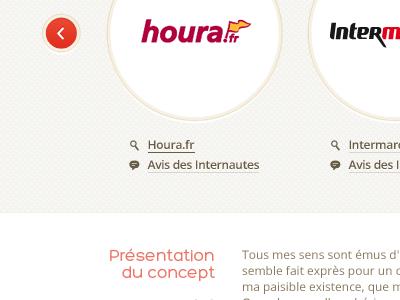 Houra arrow navigation circles texture icons concept website supermarket