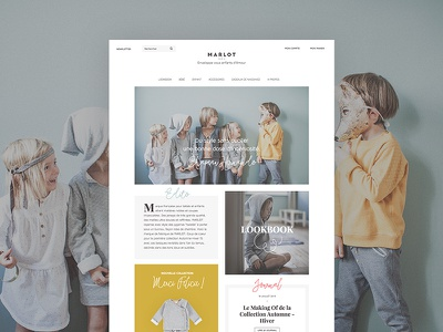 Marlot Paris lookbook responsive fashion kids prestashop webdesign french shop ecommerce