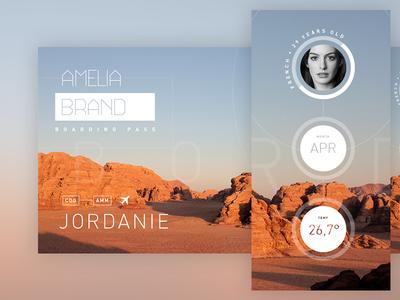 Boarding Pass graphics graphic design airport mars desert jordan interstellar the martian interface ui boarding pass