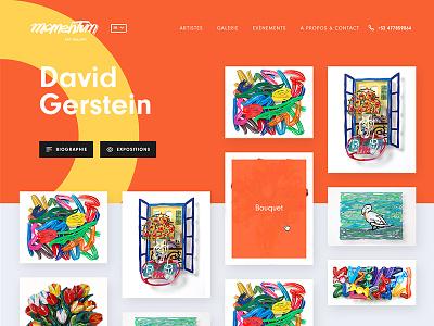 David Gerstein gerstein shape artist art gallery webdesign colorful color