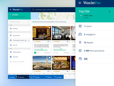 Travel Planner webapp map startup webdesign trip ux ui planner plan travel