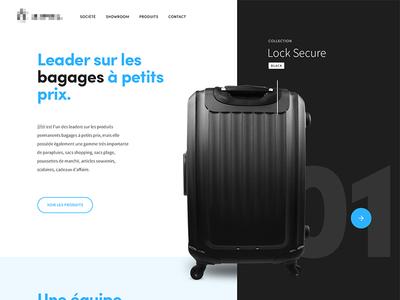 Bagages webdesign black product travel suitcase luggage