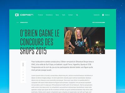News typography post ecommerce colorful shop obrien grid green blog news webdesign surf