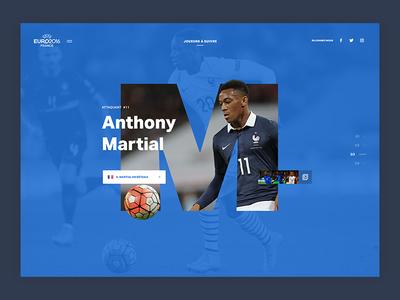 Euro Concept slide france webdesign player soccer football euro concept