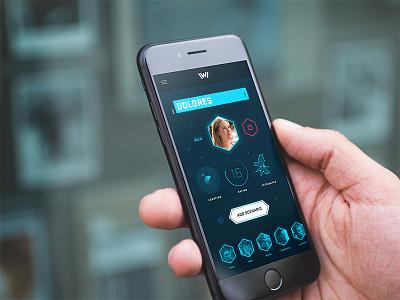 Westworld App Concept interface futuristic dark ui dark tvshow android ui app westworld