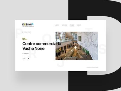 Design+ typography big type grotesk black white minimal website webdesign design achitecture architect