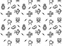 """Icons & Pattern, """"NO HAY BRONCA"""""""