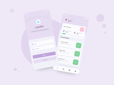 Learning App designer ux designs application app design mobile mobile ui uiux ui  ux design ui popular design illustration app minimal