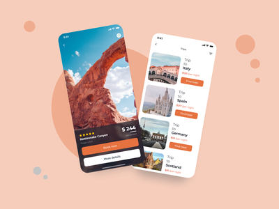 Travel App design application app design uidesigner uidesign ux mobile uiux mobile ui app ui mobile app design popular design minimal illustration