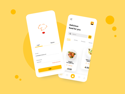 Food Delivery App mobile app uxdesign uidesign ux  ui ui  ux uiux mobile mobile ui ui popular design mobile app design illustration minimal app