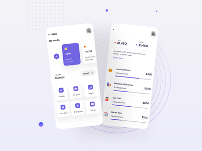 Finance Mobile App design mobile financeapp ios finance ux uix minimal ui mobile app design popular design app